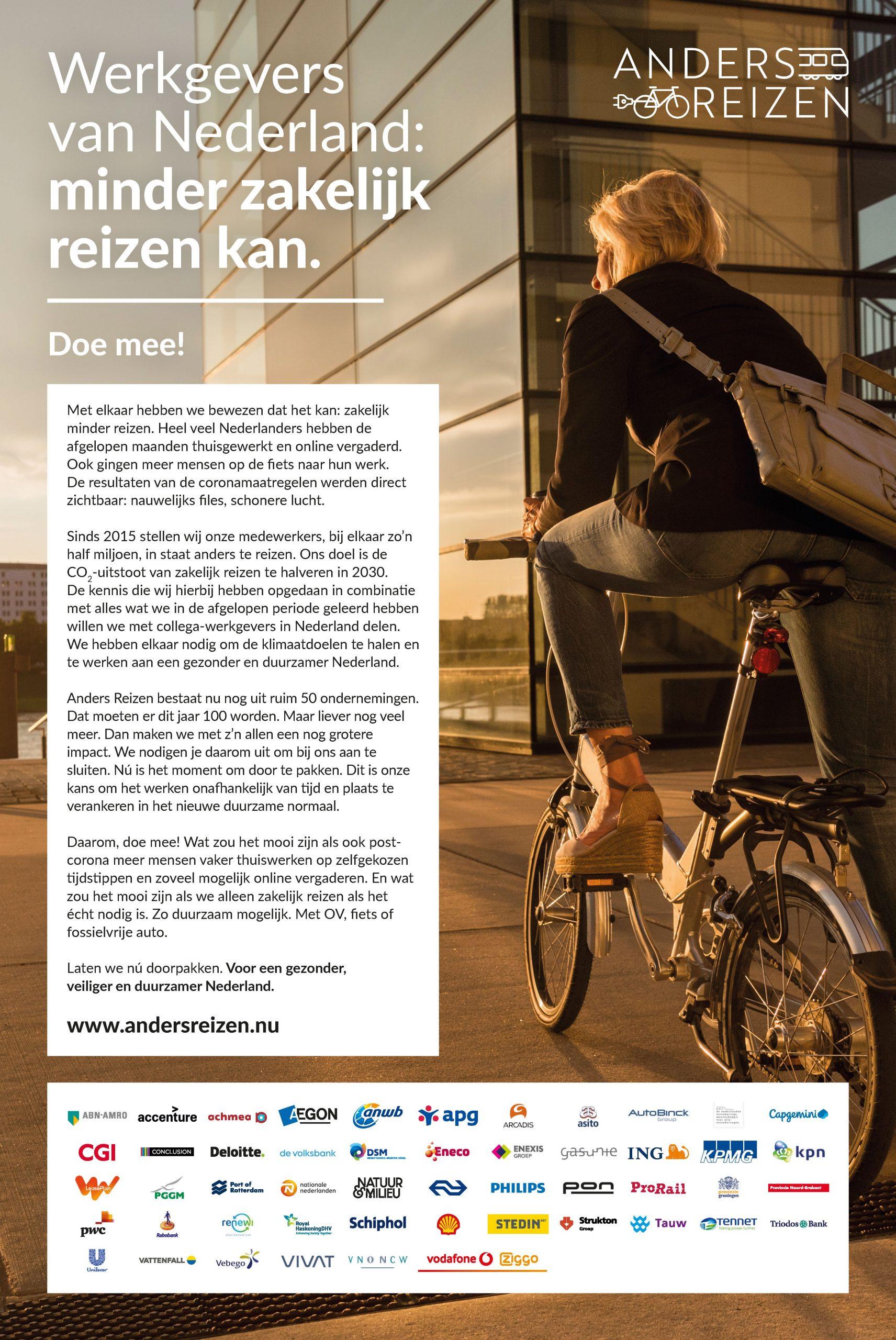 Anders Reizen advertentie